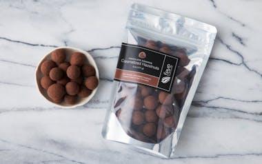 Chocolate Covered Caramelized Hazelnuts