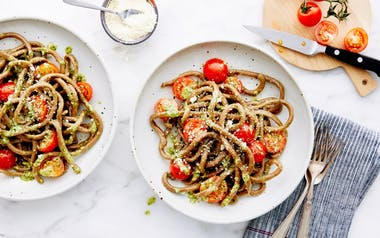 Fresh Pesto Pasta with Cherry Tomatoes