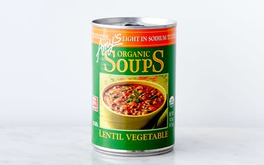 Organic Low-Sodium Lentil Vegetable Soup