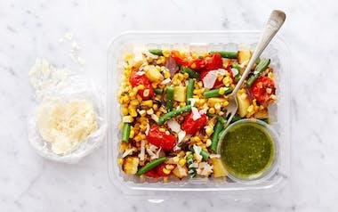 Summer Salad with Basil Vinaigrette