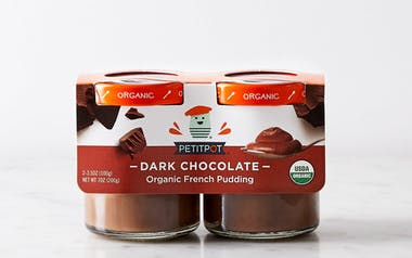Organic Dark Chocolate Pot de Creme 2-pack