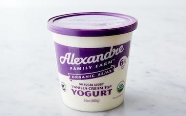 Organic A2A2 No Sugar Added Cream Top Vanilla Yogurt