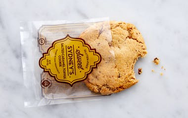 Gluten-Free Salted Caramel Toffee Cookie