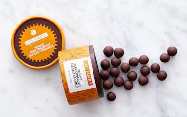 Organic Dark Chocolate Sea Salt Caramels