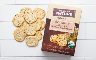 Organic Rosemary & Olive Oil Stoneground Wheat Crackers