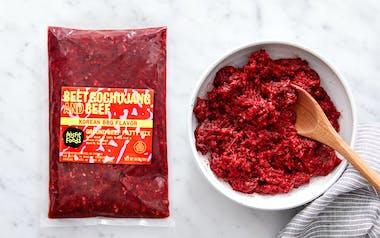 Beet Gochujang and Beef (Korean BBQ Style Ground Beef Mix) (Frozen)