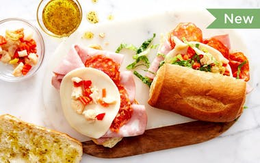 Italian Combo Subs with Pickled Vegetables
