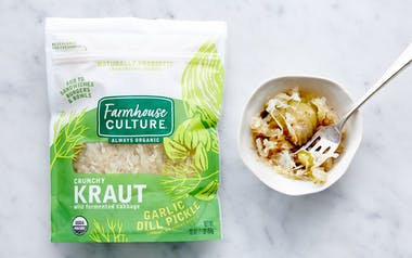 Organic Garlic Dill Pickle Kraut