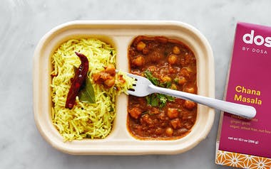 Chana Masala & Lemon Rice