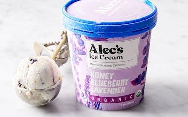 Organic Honey Blueberry Lavender Ice Cream
