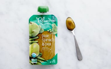 Organic Spinach, Peas & Pear Baby Food (6+ mos)