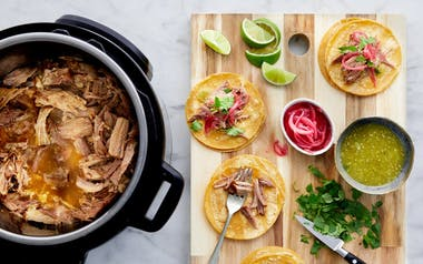 Slow Cooker Carnitas with Pickled Onions