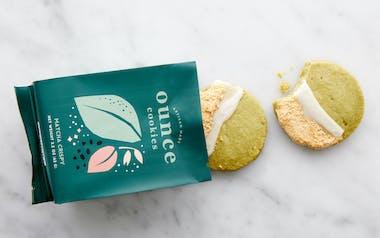 Crispy Matcha Tea Cookies