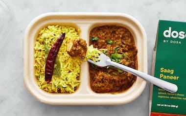 Saag Paneer & Lemon Rice
