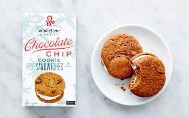 Vegan Chocolate Chip Cookie Sandwiches