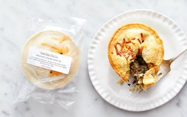 Mushroom Cheddar Knish Pie