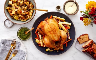 Roasted Chicken Celebration Dinner