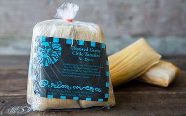 Roasted Green Chile Tamales (Dairy Free)