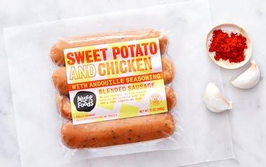 Sweet Potato & Chicken Sausage (Hot Andouille Style)
