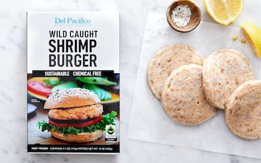 Fair Trade Wild Mexican Shrimp Burger Patties (Frozen)