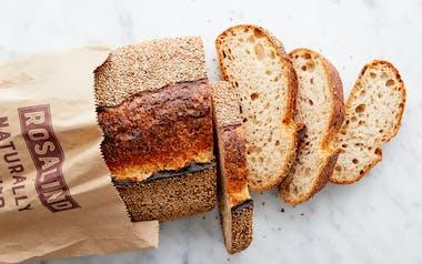 Rye Sesame Sourdough Loaf