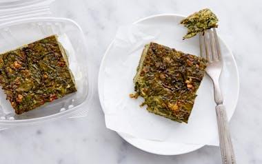 Spinach & Toasted Walnut Kuku Frittata