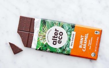 Organic Dark Salted Burnt Caramel Bar (70%)