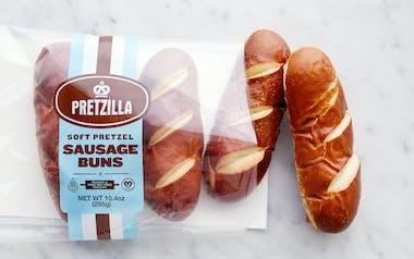 Soft Pretzel Sausage Buns