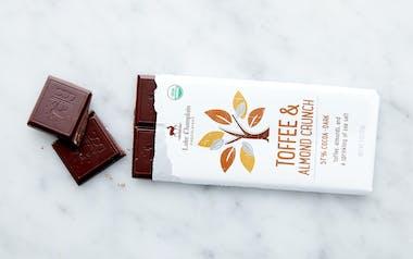 Organic Toffee & Almond Crunch Dark Chocolate Bar
