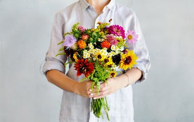 Organic Mixed Seasonal Flower Bouquet