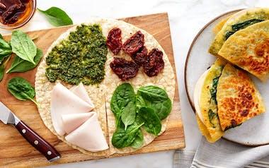Turkey Pesto Tortilla Wraps