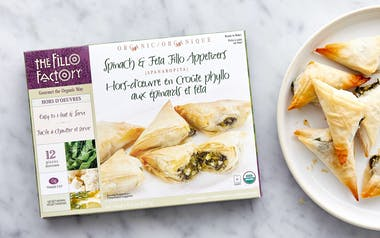Organic Ready-to-Bake Spinach & Feta Fillo Appetizers