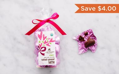 Organic Salted Caramel Latte Dark-Milk Chocolate Hearts