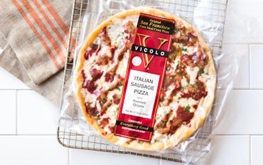 Italian Sausage Cornmeal Crust Pizza