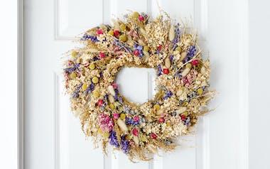 Organic Dried Flower Wreath