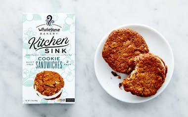 Vegan Kitchen Sink Cookie Sandwiches