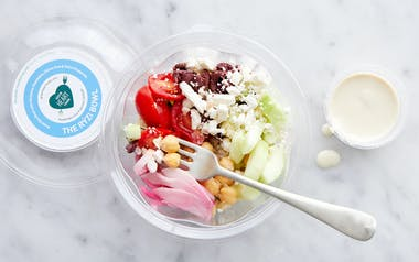 Greek-Inspired Veggie Rice Bowl