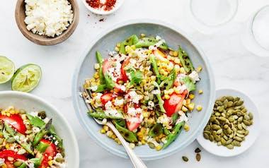 Corn Salad with Romano Beans & Pepitas